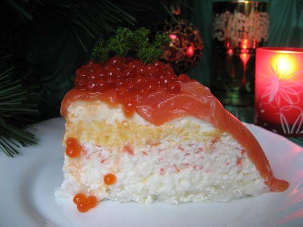 Салат из семги с икрой рецепт с